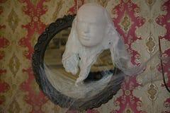La silueta de un fantasma adorna el interior Foto de archivo