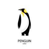 La silueta del pingüino LOGOTIPO Estilo plano Ilustración del vector