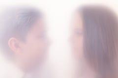 La silueta en una niebla Imagen de archivo