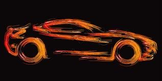 La siluetta dell'automobile ha impostato 1 Fotografie Stock