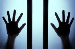 La siluetta della mano Fotografie Stock Libere da Diritti