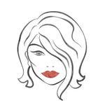 La siluetta di Crystal Abstract Woman illustrazione di stock