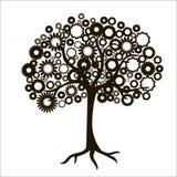 La siluetta di un albero Fotografia Stock Libera da Diritti