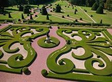 La simetría del parque regular clásico, fragmento Imagen de archivo