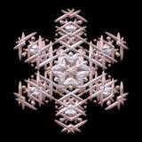 La simmetria meravigliosa 3d rende il fiocco di neve dell'inverno di natale illustrazione vettoriale
