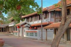 La simulación de las fotos y de filmar del mercado la Tailandia histórica fotos de archivo