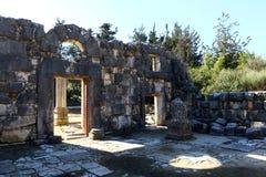 La sinagoga antigua en el parque nacional de Baram Imagenes de archivo