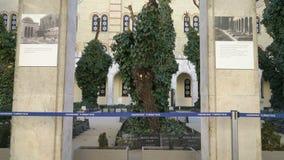 La sinagoga de Tabakgasse de la sinagoga de la calle de Dohany es la sinagoga más grande de Europa Budapest, Hungría metrajes