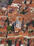 La sinagoga di Neolog in Brasov e nei suoi dintorni, come visto da Tampa Fotografia Stock