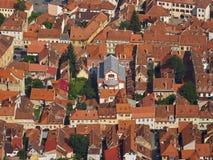 La sinagoga di Neolog in Brasov e nei suoi dintorni, come visto da Tampa Fotografie Stock