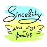 La sincerità dà le ali a potere Fotografia Stock