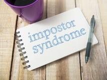 La sindrome dell'impostore, salute mentale esprime il concetto di citazioni fotografie stock