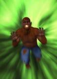 La singe aiment le monstre sautant sur l'illustration de proie Photos stock
