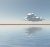 La singola nuvola galleggia sull'orizzonte Fotografia Stock Libera da Diritti