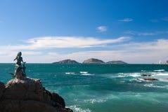 La sirène de Mazatlans est la reine des mers Images libres de droits