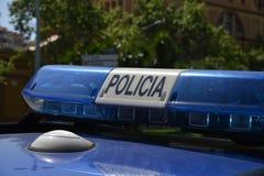 La sirena di polizia Fotografia Stock