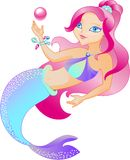 La sirena es hermosa stock de ilustración