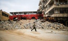 La Siria: Al-Qaida a Aleppo fotografia stock libera da diritti