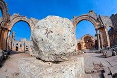 La Siria - chiesa della st Simeon - Qal'a Sim'an Fotografie Stock Libere da Diritti