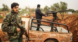 La Siria: Combattenti sciiti Immagine Stock Libera da Diritti