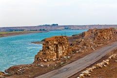 La Siria - Halabia, città di Zenobia immagini stock