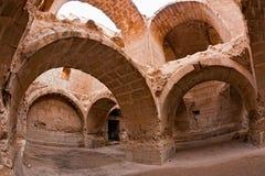 La Siria - Halabia, città di Zenobia fotografia stock libera da diritti