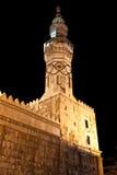 La Siria - la torretta della moschea di Umayyad a Damasco Fotografie Stock