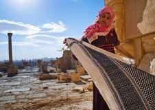 La Siria Palmyra Donna Fotografia Stock Libera da Diritti