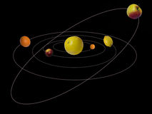 La Sistema Solar del sistema Foto de archivo libre de regalías