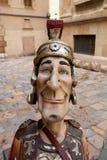 La situación alegre de los soldados romanos en la calle del ancien Imágenes de archivo libres de regalías
