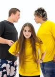 La situation de conflit a surgi parmi des adolescents Image stock