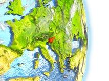 La Slovénie en rouge sur terre illustration libre de droits