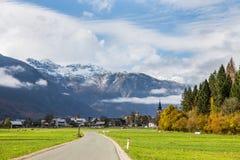 La Slovénie - le Stara Fuzina Triglav - paysage photographie stock libre de droits
