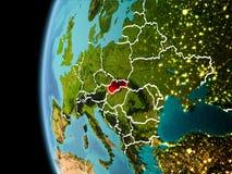 La Slovacchia da spazio nella sera Fotografia Stock Libera da Diritti