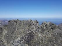 La Slovacchia, montagne di Tatra - la cresta del picco di Gerlach fotografia stock libera da diritti