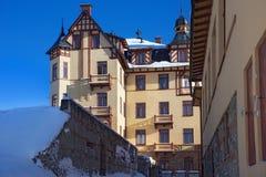 LA SLOVACCHIA, STARY SMOKOVEC - 6 GENNAIO 2015: Vista di grande hotel in della località di soggiorno alte Tatras montagne popolar Fotografie Stock