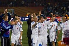 La Slovaquie - équipe de football - carte de travail 2010 de la FIFA Images libres de droits