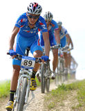 La Slovaquie, Doh?any - 27 juillet 2010 : Faire du vélo de montagne de championnat du monde Photographie stock