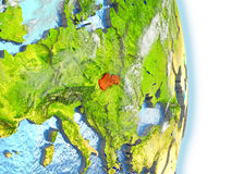 La Slovaquie en rouge sur terre illustration libre de droits