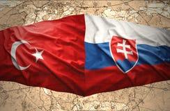 La Slovaquie et la Turquie Images libres de droits