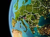 La Slovenia da spazio nella sera Fotografia Stock Libera da Diritti
