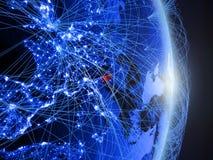 La Slovenia su terra digitale blu blu immagini stock libere da diritti