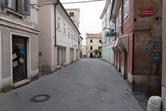 La Slovenia, vecchia città di Capodistria Immagini Stock