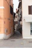 La Slovenia, vecchia città di Capodistria Immagine Stock