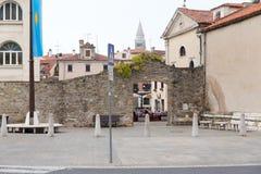 La Slovenia, vecchia città di Capodistria Fotografia Stock