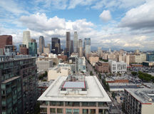 LA with smogless spring sky. Downtown Los Angeles with smogless spring skies Stock Photography