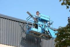 La società del piatto lavora con tetto della lamiera sottile Fotografia Stock Libera da Diritti