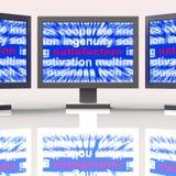 La soddisfazione controlla la soddisfazione e l'adempimento di godimento di manifestazioni illustrazione di stock