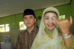 LA SOGLIA ELETTORALE DELL'INDONESIA Immagini Stock