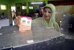 LA SOGLIA ELETTORALE DELL'INDONESIA Fotografie Stock Libere da Diritti